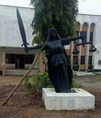 Fallen Justice Statue