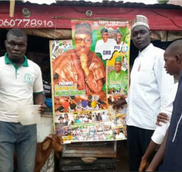 Suya Seller Shares Free Goat Meat To Celebrate Buhari's Return (Photos)