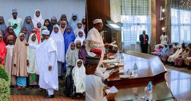 Buhari With Dapchi Girls5
