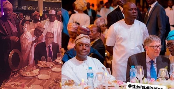 Photos of Bill Gates at the wedding of Africa's richest man, Aliko Dangote's daughter, Fatima