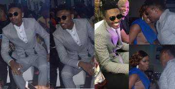#BBNaija: 'See Gobbe' winner, Efe spotted alongside other former housemates at live show in Lagos.