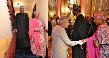 President Buhari And Wife, Hosted To Lavish Dinner By Queen Elizabeth II (Photos)