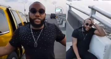 #LazyNigerianYouths: Kcee threatens to jump of 3rd Mainland bridge while reacting to President Buhari's speech.