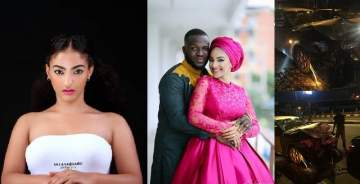 Wizkid's ex, Sophie Alakija, survives a ghastly accident with her husband and 2 kids. (Photos)