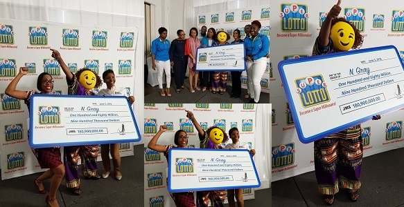 Jamaican lottery winner shows up in a mask to claim her $180 Million prize (Photos)