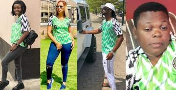 World Cup 2018: Nigerian Celebrities rock Super Eagles Jersey before Croatia loss yesterday
