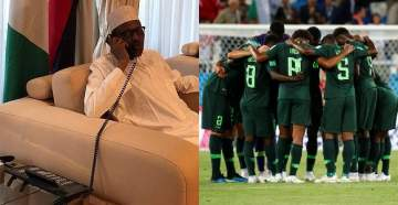 FIFA World Cup 2018: The Moment President Buhari Called Super Eagles On Phone