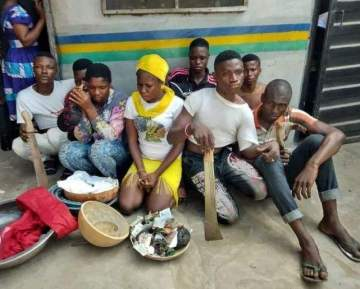 Female cultist, 7 others arrested during initiation into 'One Million Boys' in Lagos