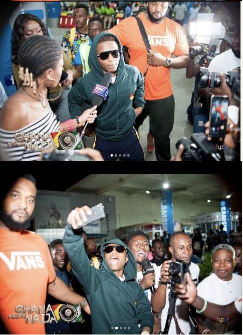 Ghana Meets Naija Wizkid Storms Ghana