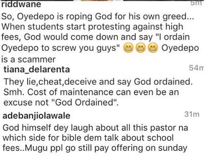 Fans Criticize Oyedepo 1