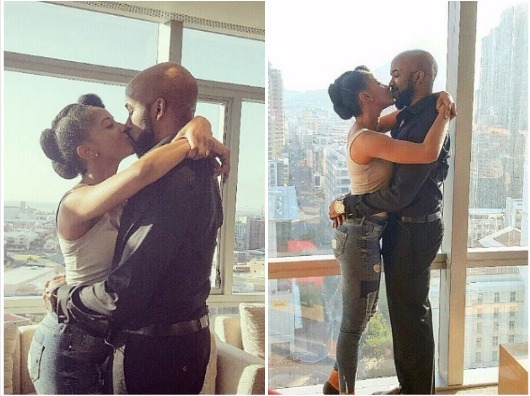 So Lovely! Check Out Photos Of Banky W Kissing Adesua Etomi After She Said Yes (Must See)