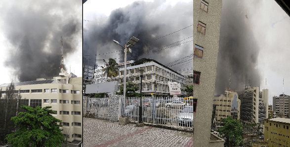 Fire guts UBA Pensions building in Lagos