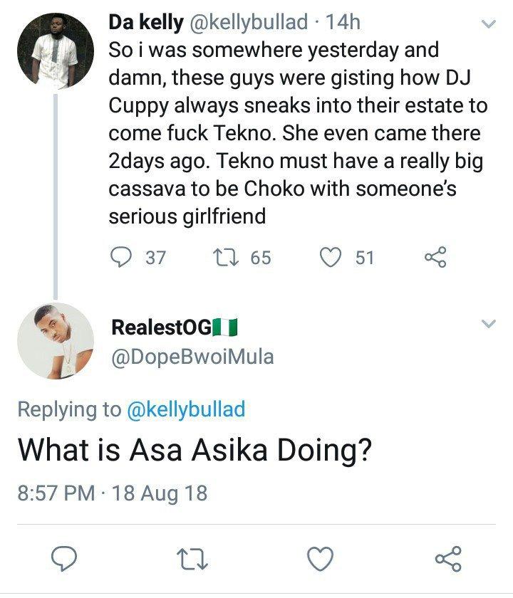 Nigerian Man Accuses Dj Cuppy Of Sleeping With Tekno 3