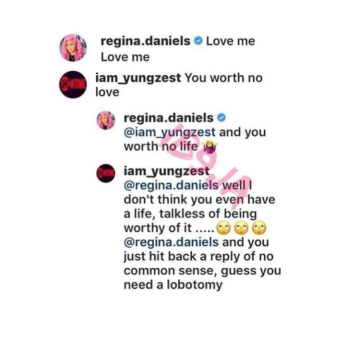 Troll Recommends Urgent Lobotomy For Actress Regina Daniels 1