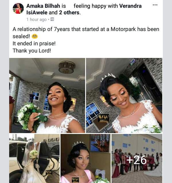 Beautiful Nigerian Couple Tie The Knot 7 Years After They Met At A Motor Park Photos 2