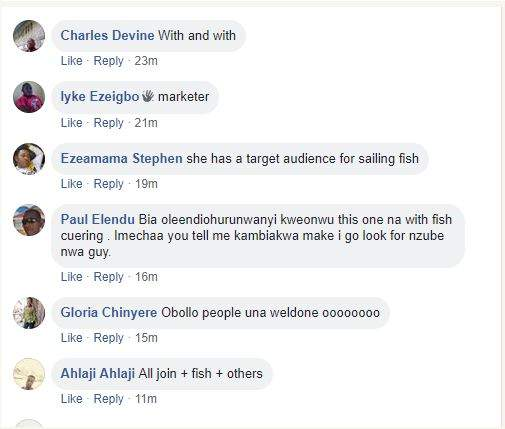 Curvy Slay Queen Spotted Selling Fish In A Market Causes Stir Online Photos 3