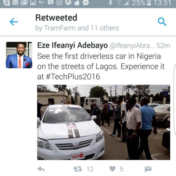 First Driverless Car In Nigeria Spotted In Lagos (Photo)