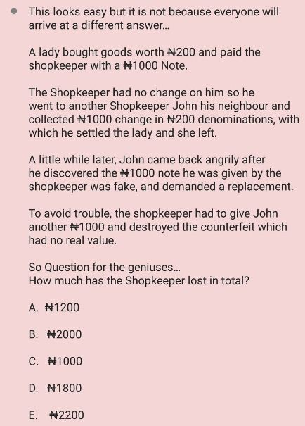 Brain Teaser! Only A Genius Can Answer This Question