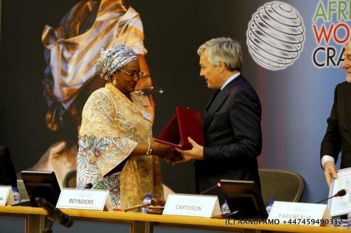 Aisha Buhari Presented An Award By The European Union And Belgium Prime Minister