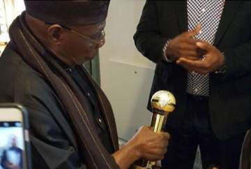 Obasanjo Bags AFRIMMA's Leadership Award