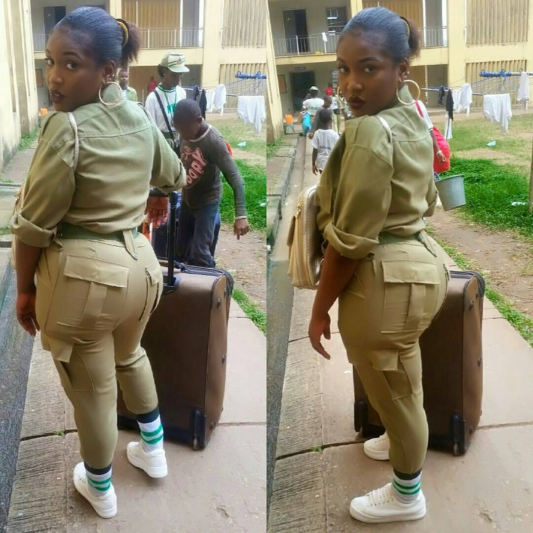 See Beautiful Corper Whose Backside Got Guys Talking (Photos)
