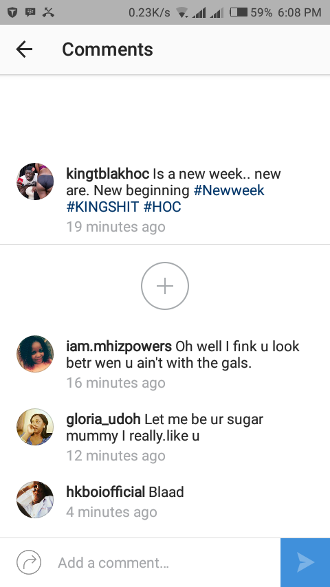 """""""Let Me Be Your Sugar Mummy, I Like You"""" - Nigerian Woman Begs Kingtblakhoc (Pic)"""