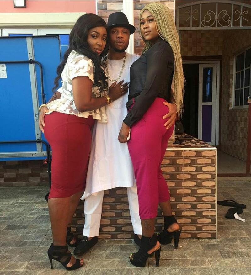 Actor Charles Okocha Plays With Actresses Anita Joseph & Nancy Iheme's Backsides (Photos)