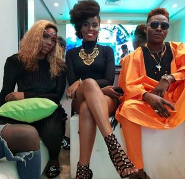 Patoranking, Tiwa Savage And Reekado Banks At NFF Awards (Photos)