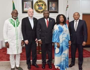 FIFA President, Gianni Infantino, Visits Governor Ambode (Photos)