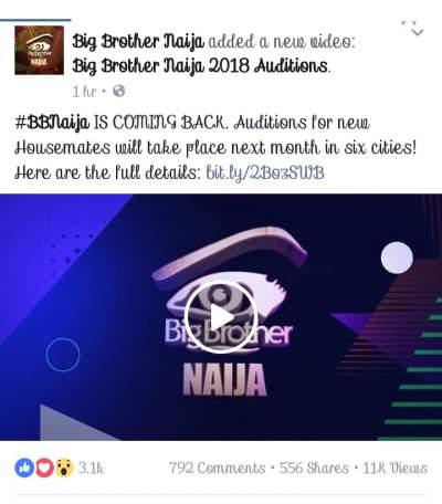 BBNaija Is Back! Audition Begins. N45M For 2018 BBNaija Winner (Pics)