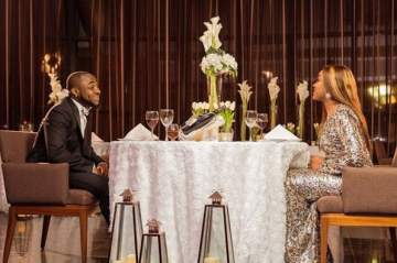 Stunning Photos Of Davido And Chioma For A TV Commercial