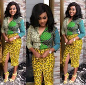 These gorgeous ankara styles Mercy Aigbe rocked will make you visit your tailor