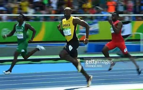 Nigeria's Oduduru Finishes 2nd Behind Usain Bolt In Men's 200m Race