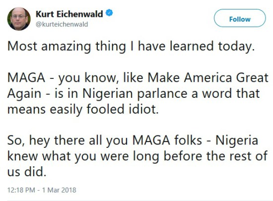 How An American Journalist Was Amazed After Discovering What Maga Means In Nigeria 1