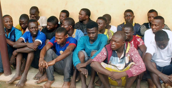 Photo: Oshodi Pick-Pocket Leader, 20 Others Arrested