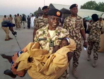 Touching Moment Army Commander Carried One Of The Released Dapchi Girls
