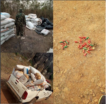 Science Class!!! Soldiers Bust Indian Hemp Dealers In A Forest In Ondo State (Photos)