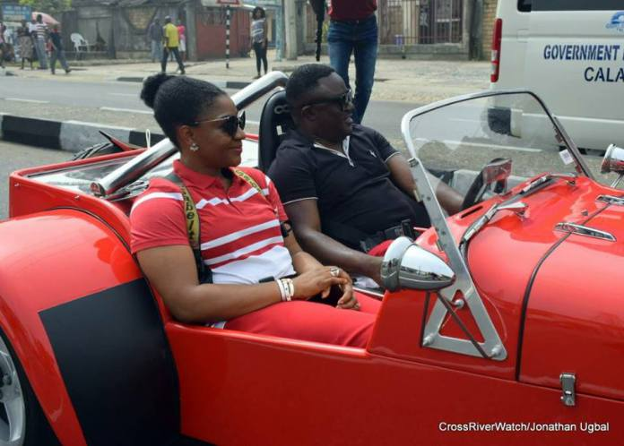 Governor Ayade And His Wife Wow Residents With Scorpio Trike Bike In Calabar Photos 3