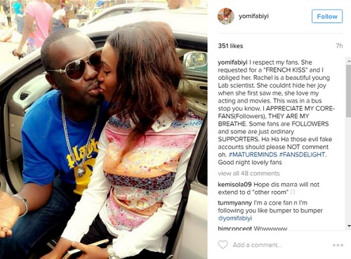 Yomi Fabiyi Grants Request Of Fan Who Asked For A KISS