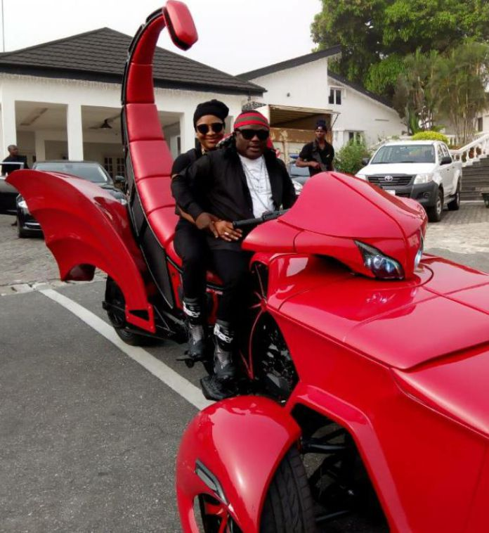 Governor Ayade And His Wife Wow Residents With Scorpio Trike Bike In Calabar Photos 1
