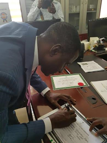 Photos: No Time, INEC Issues Certificate Of Return To Ogah