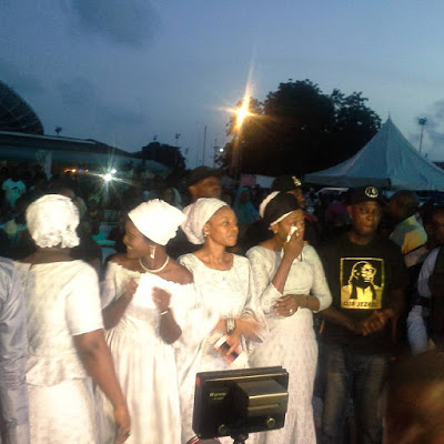 Photos: OJB's wives & kids at his wake keeping & service of songs tonight