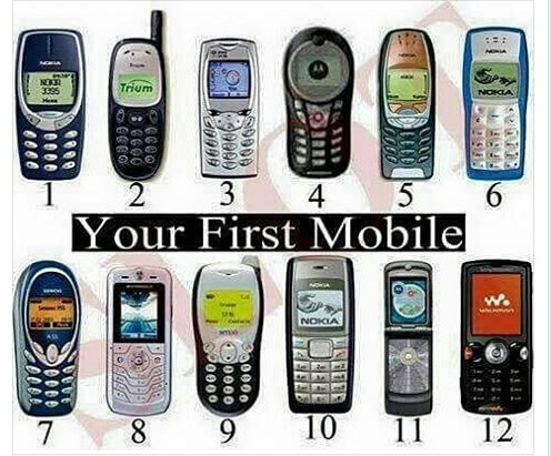 Which Of These Was Your First Mobile Phone?