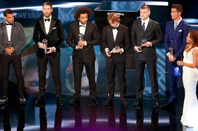 Pique chosen ahead of Pepe and no EPL player? See FIFA's 2016 Team of the Year (photos)
