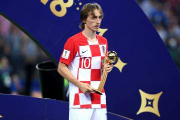 Luka Modric wins the World Cup Golden Ball as best player at tournament