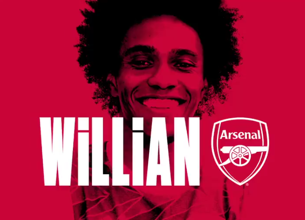 Willian: Arsenal confirm free signing of former Chelsea star on three-year deal worth reported £220,000-a-week