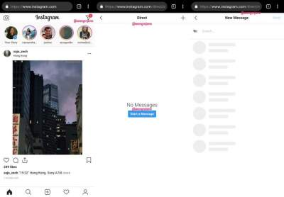 Instagram is now testing a web version of Direct messages