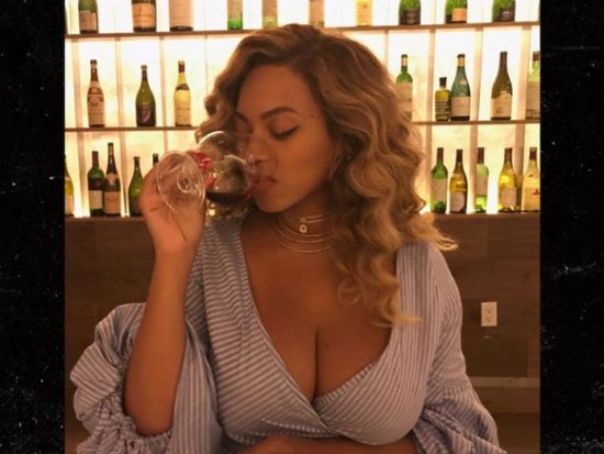 0804 Beyonce Showing Cleavage Drinking Instagram 2  1