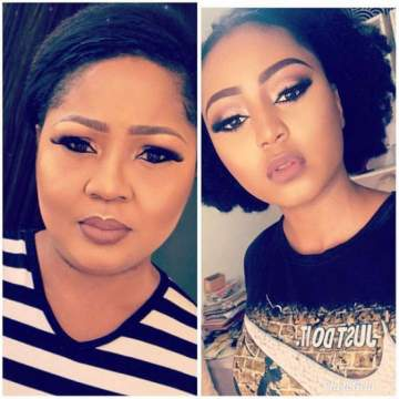 Checkout This Lovely Photo Collage Of Regina Daniels And Her Mother