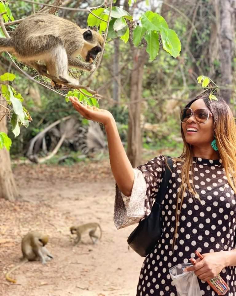 Photos: Osas Ighodaro Ajibade is Enjoying Life in The Gambia